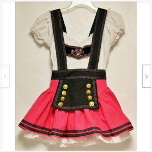 Starline Dirndl Dress Black Pink Small Octoberfest